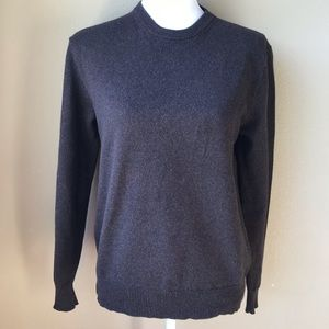 J. Crew Cotton And Cashmere Brown Crewneck Sweater